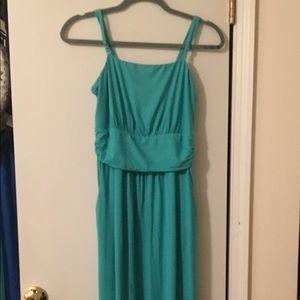 Cynthia Rowley Teal Maxi Pocket Dress